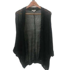 H BY HALSTON open knit slouch cardigan black XL
